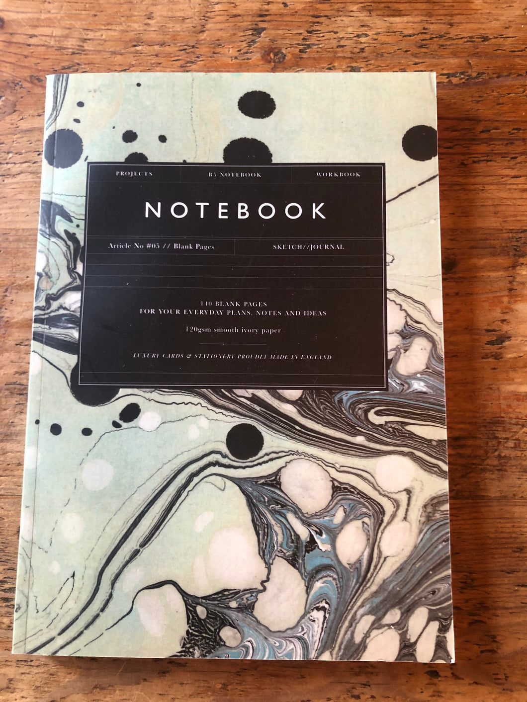 Katie Leamon Green Marble Notebook
