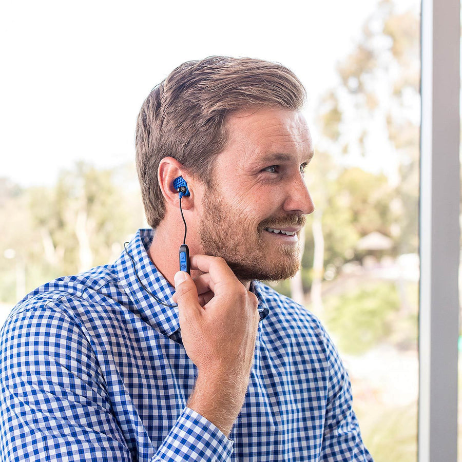 Metal Bluetooth Rugged Earbuds mustassa