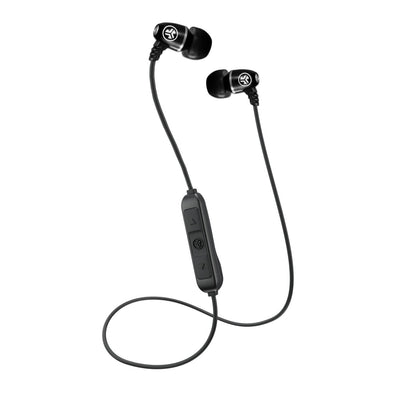 Metal Bluetooth Rugged Earbuds باللون الأسود