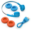 Rewind Wireless Retro Headphones Casque rétro en bleu