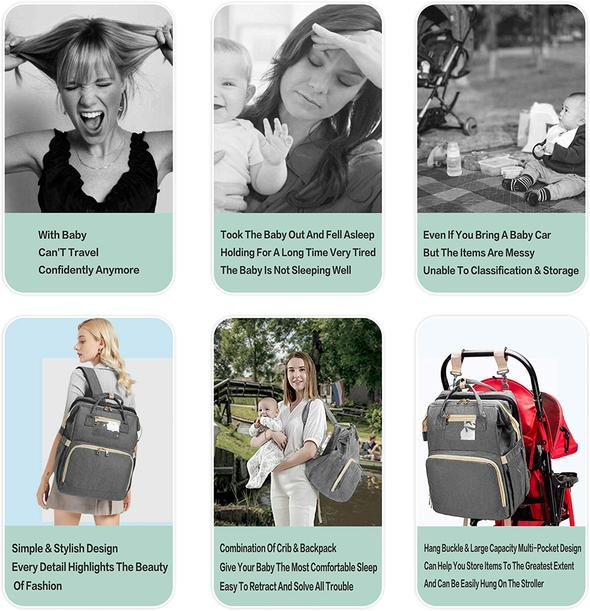 Kooky 3 in 1 Diaper Bag Backpack