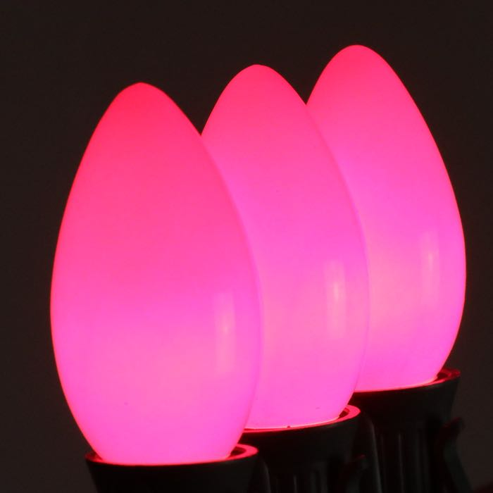 C9 Bulbs Opaque Pink