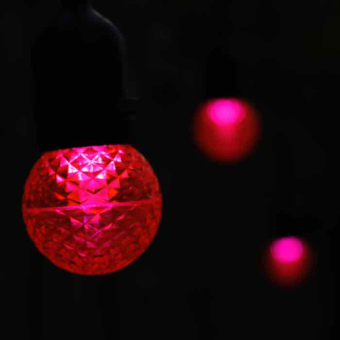 Pink G50 E26/MED LED Christmas Light Bulb