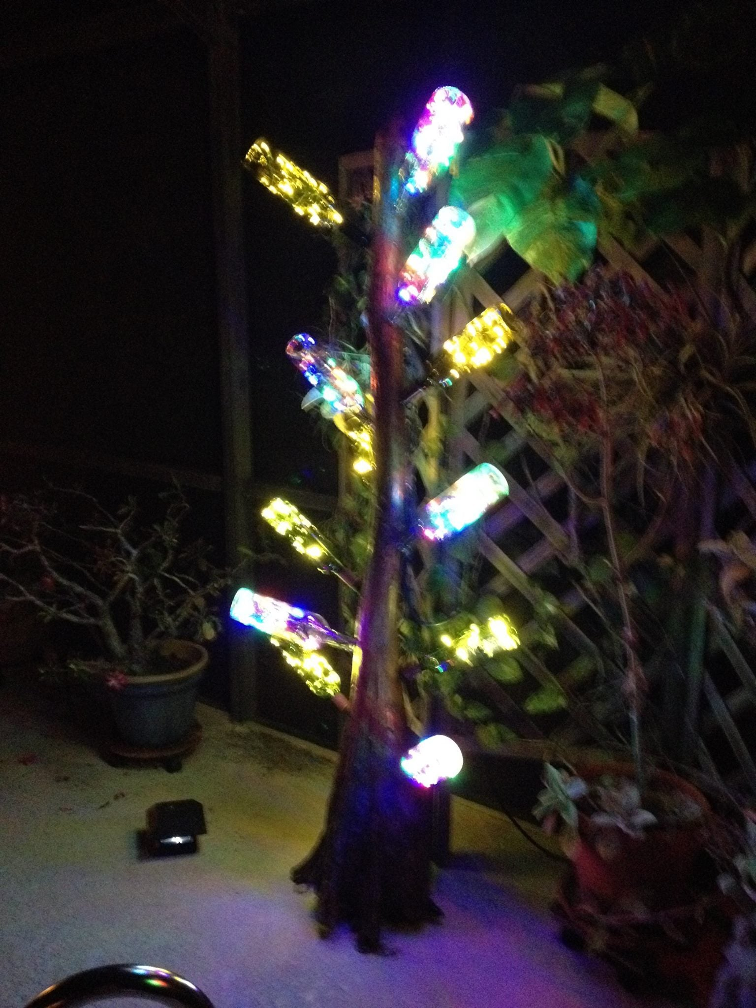20 White Craft Lights On Green Wire Christmas Tree In Addition Led Wiring Tap To Expand
