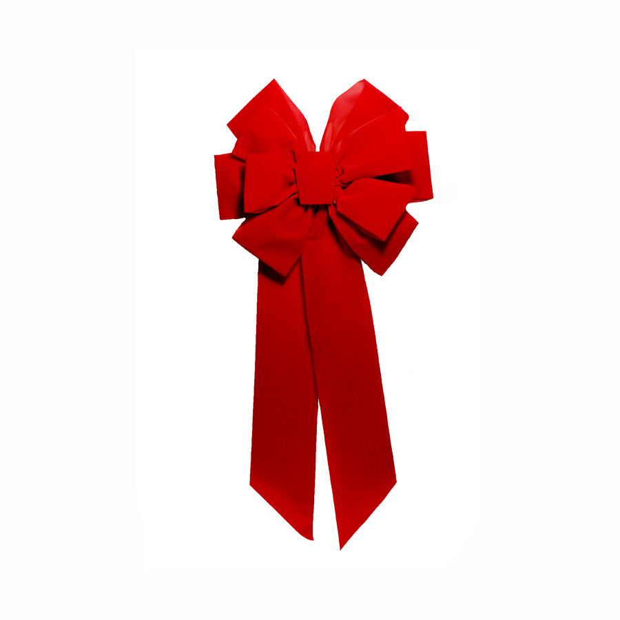 Red Velvet Bow 10 inch x 18 inch  Double Layer