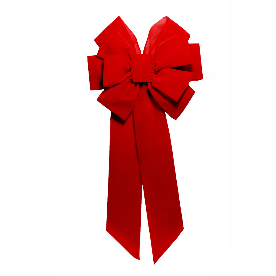 Red Velvet Bow 14 inch x 28 inch  Double Layer