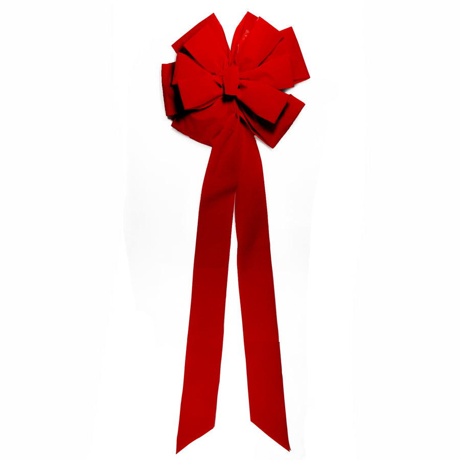 Red Velvet Bow 18 inch x 50 inch  Deluxe Double Layer