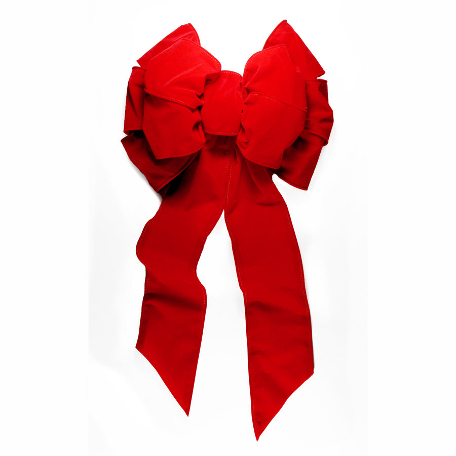Red Velvet Bow 14 inch x 28 inch  Deluxe Double Layer