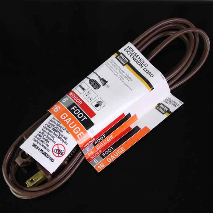 6-foot Extension Cord Brown Wire