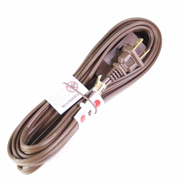 15-foot Extension Cord Brown Wire