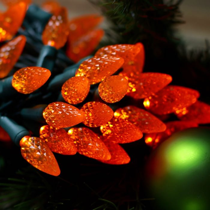 50 Orange Strawberry C6 LED Christmas Lights