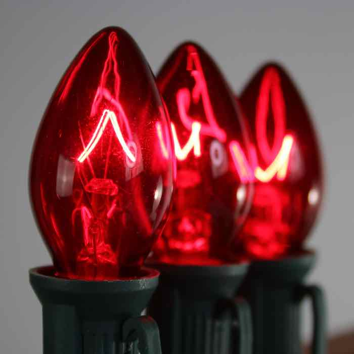 C7 Extra Bright Bulbs Red 7 Watt