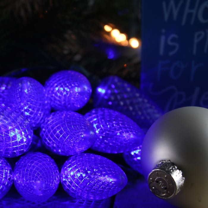 Blue C9 Led Lights Perfect For Parties