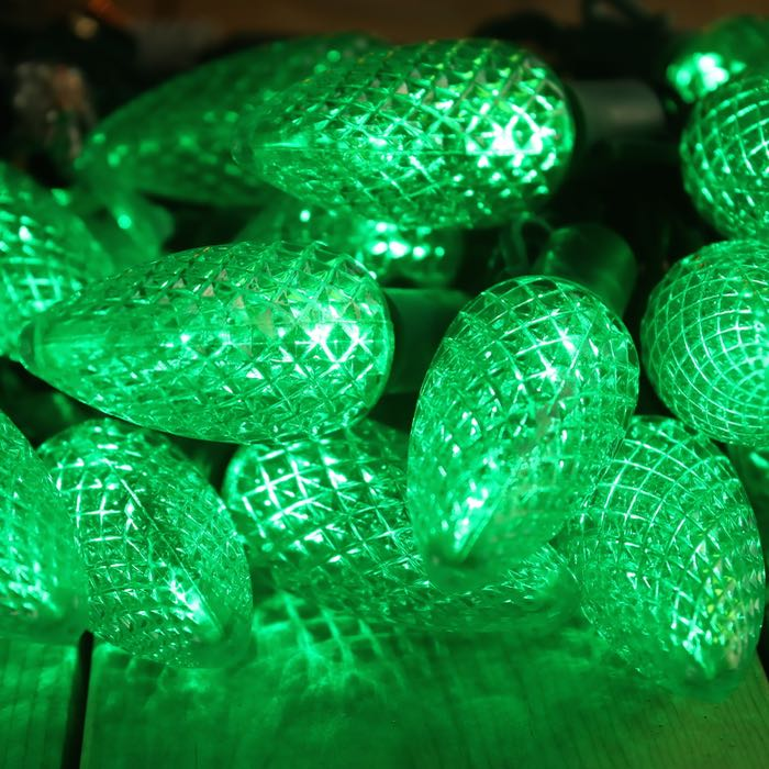 C9 Green LED Christmas Lights