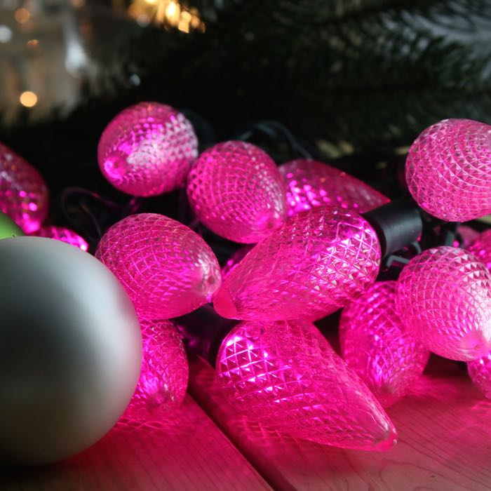 C9 Pink LED Christmas Lights