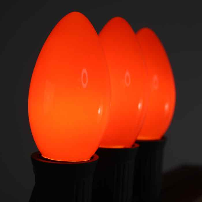 C9 Bulbs Opaque Orange