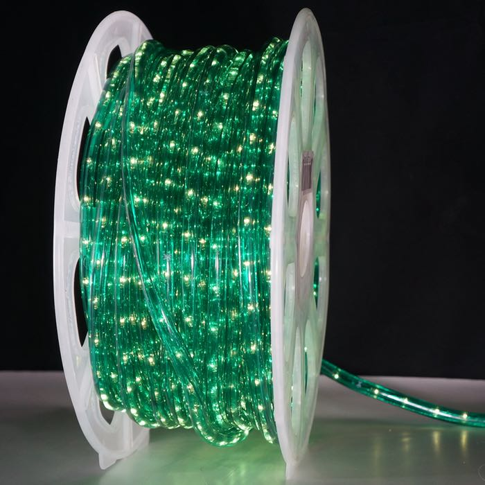 Green Rope Light 10 mm 2-wire