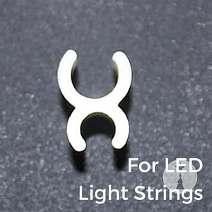 LED Sculpture Clip Deluxe 1/4 inch White 5000