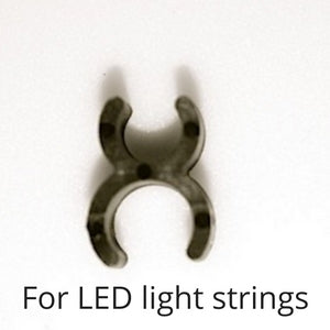 LED Mini Light Sculpture Clips 1/4 inch Black 100 clips