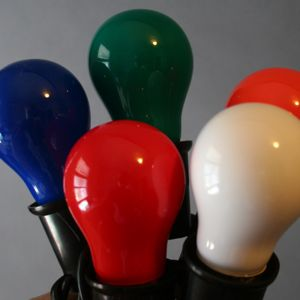 Medium Base Multi Opaque Bulbs