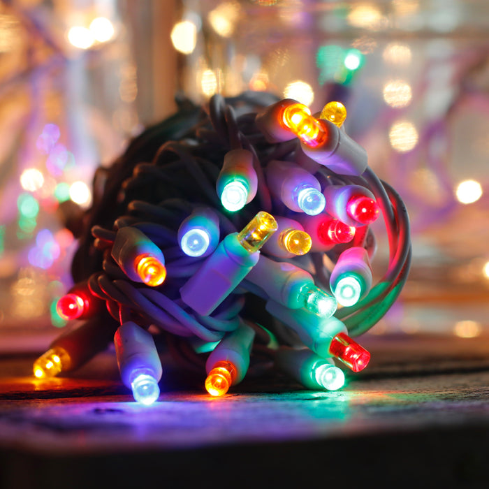 Multi Color LED Craft Lights - 20 bulbs on white wire