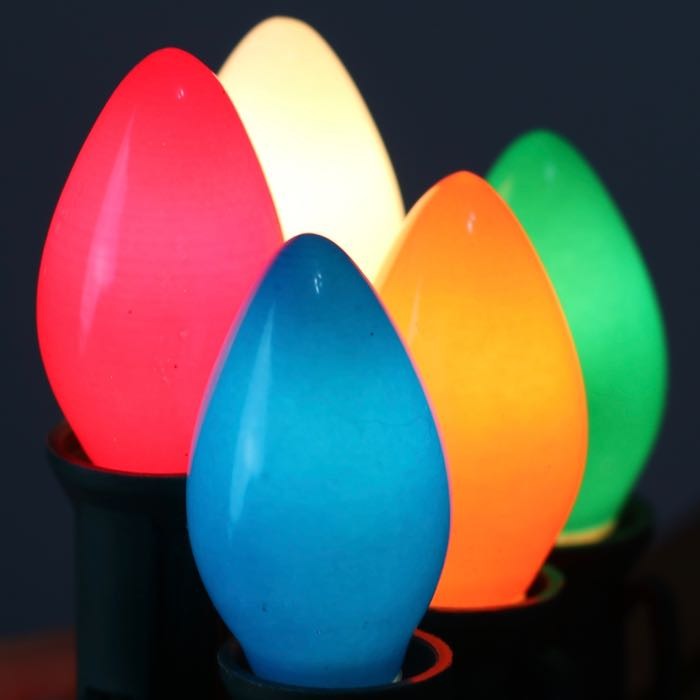 C7 Bulbs Opaque Multi Color