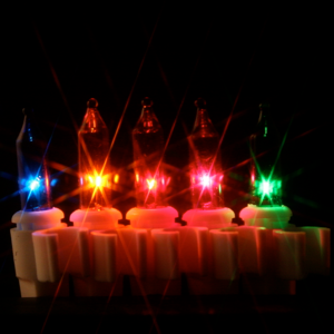 50 Multi Mini lights with Clips 2.5 inch White Wire