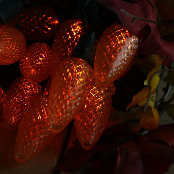 Orange C9 LED Christmas Lights