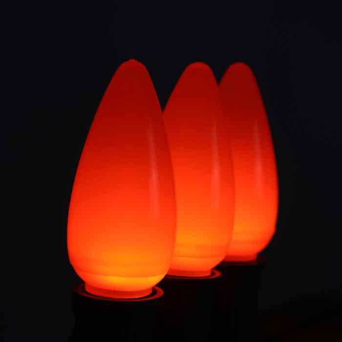 Orange C9 Opaque LED Bulbs