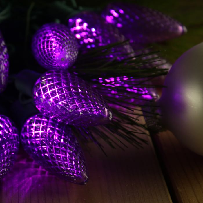 Purple C9 LED Christmas Lights