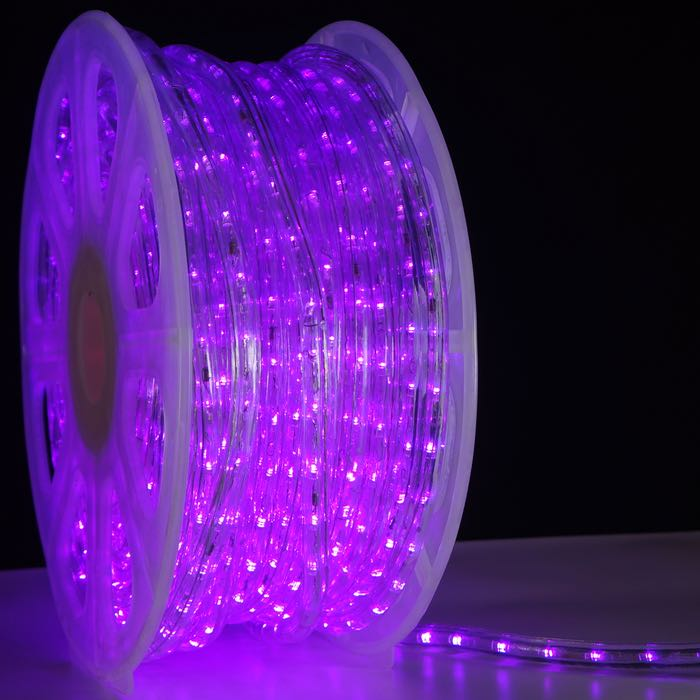 3/8 Inch Purple LED Rope Light
