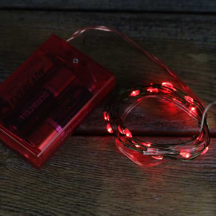 Red Fairy Battery Lights