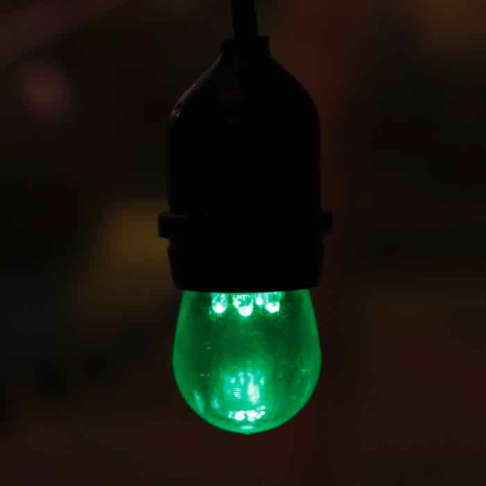 Green S11 LED Bulbs Medium Base E26