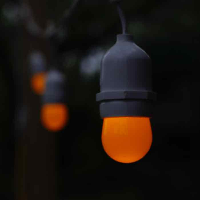 Opaque Orange S11 LED Bulbs Medium Base E26