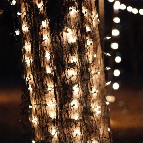 Tree Trunk Wrap Net Lights 8 feet Green Wire