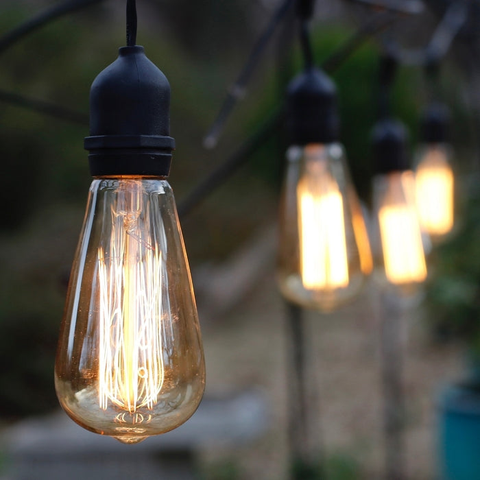 Vintage Style ST64 Edison Bulbs - amber with medium (E26) bases