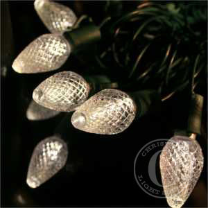C7 Warm White LED Christmas Lights