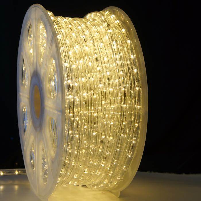 3/8 Inch Warm White LED Rope Light