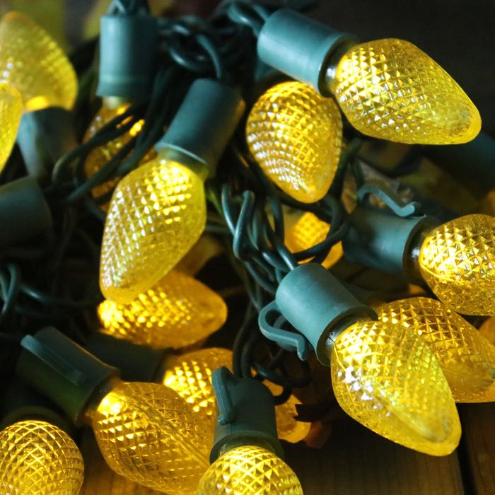 C7 Yellow LED Christmas Lights