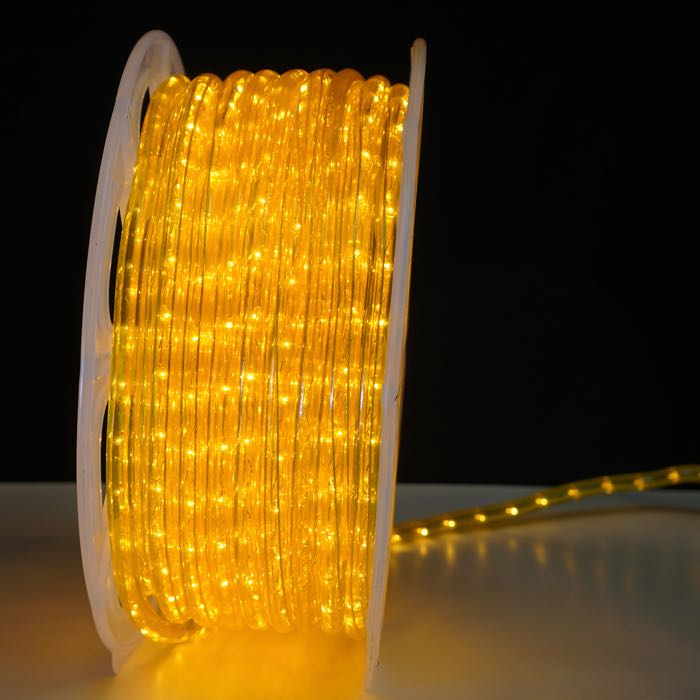 Yellow Rope Light 10 mm 2 wire