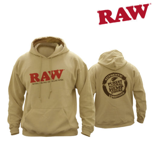 RAW Hoodie – Black and Sand