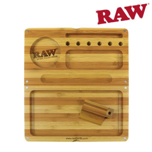 RAW Backflip Folding Bamboo Tray- Limited Edition Striped Bamboo