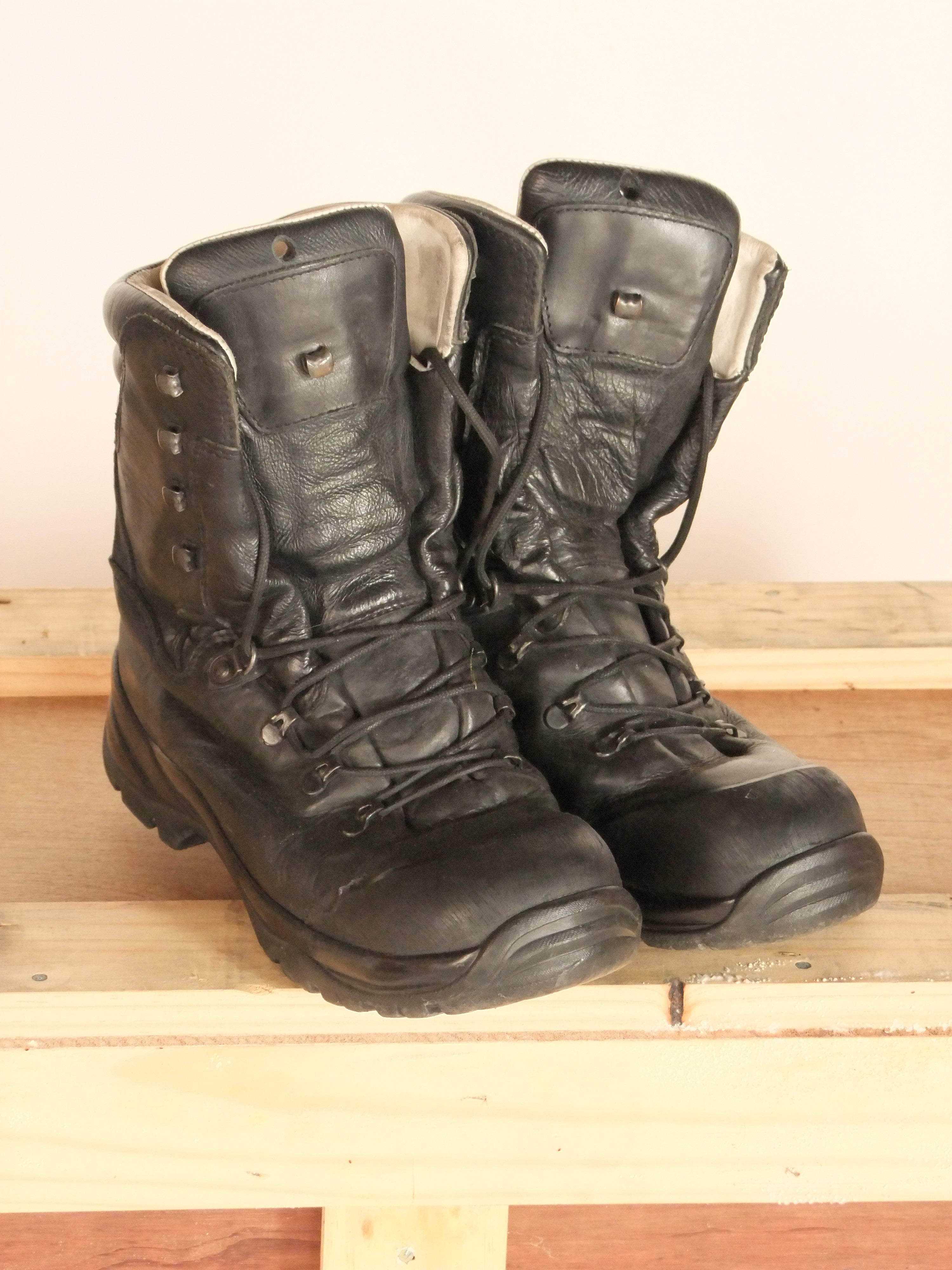 German army issue steel toe cap boot.