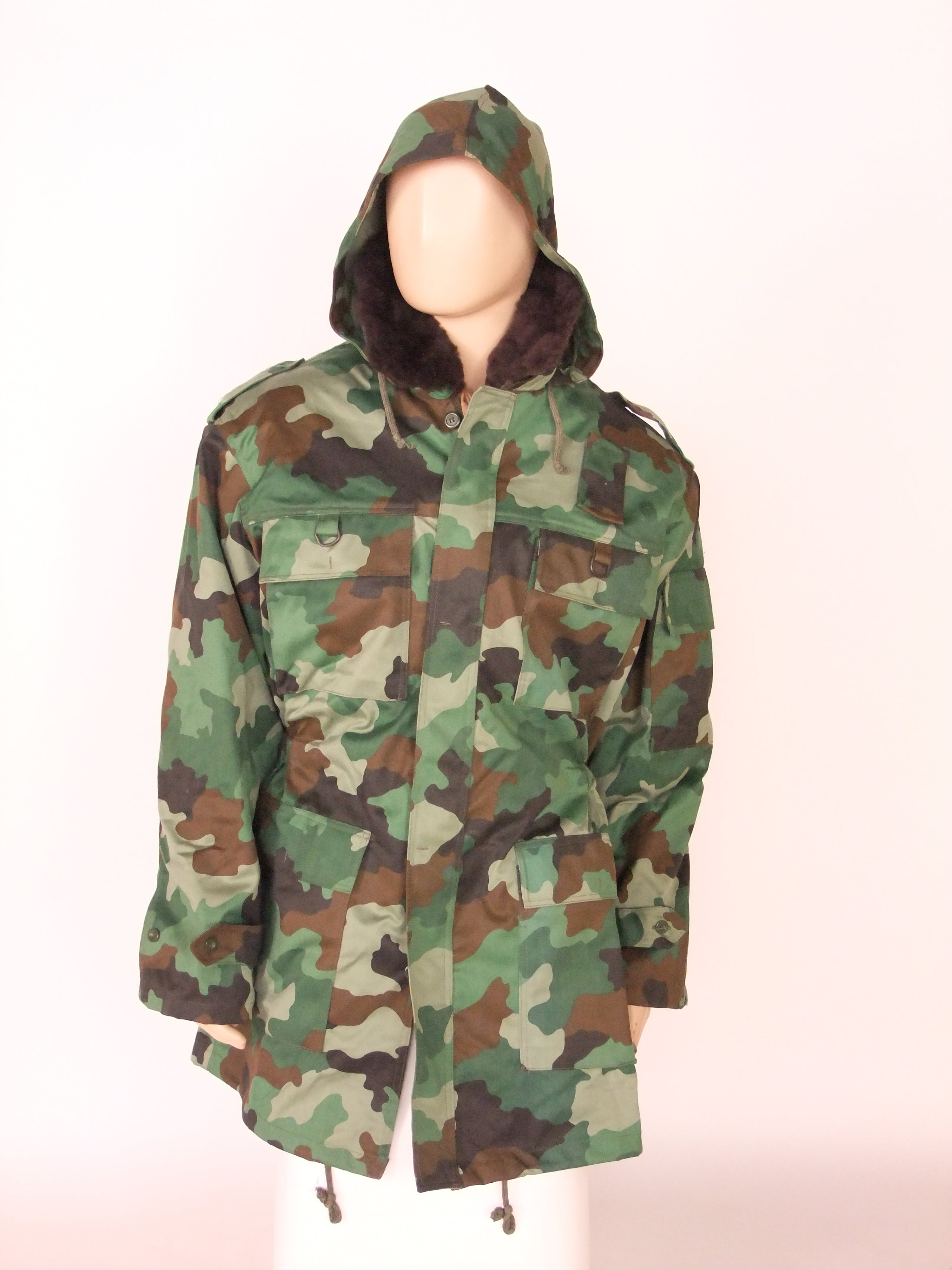 Serbian camouflage parka