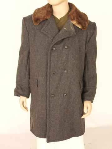 Sheepskin lined Soviet era greatcoat.