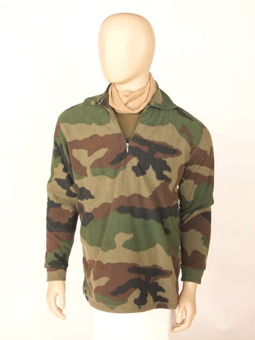 French camo fleece top