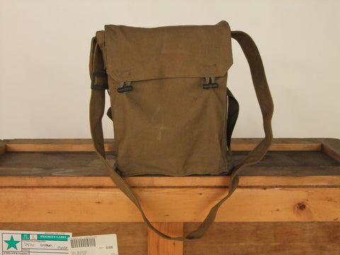 Khaki army surplus shoulder bag