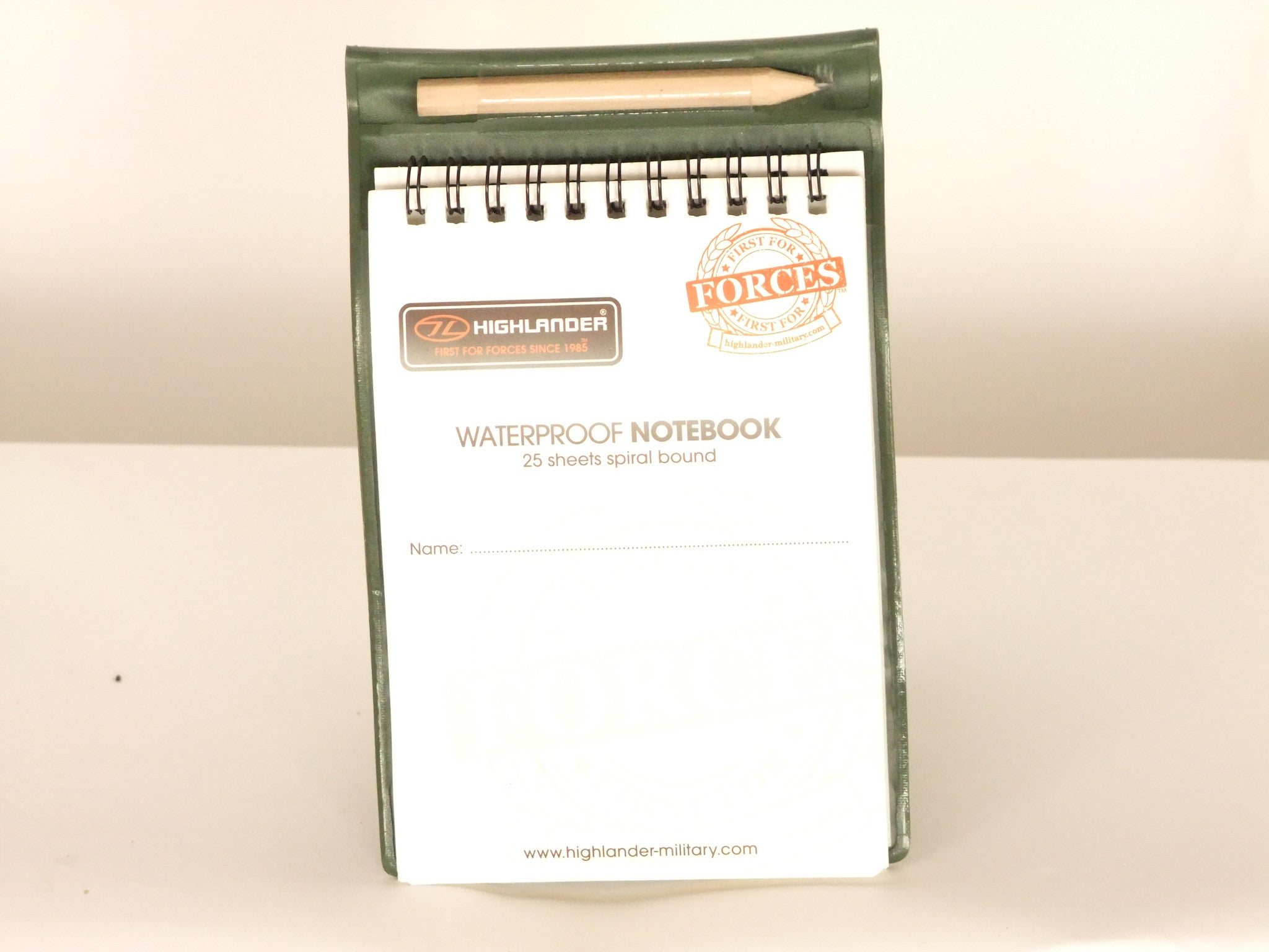 Waterproof notebook.
