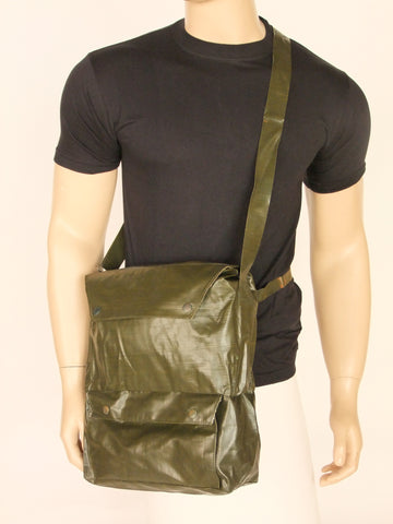 Army surplus water resistant gas mask  bag.