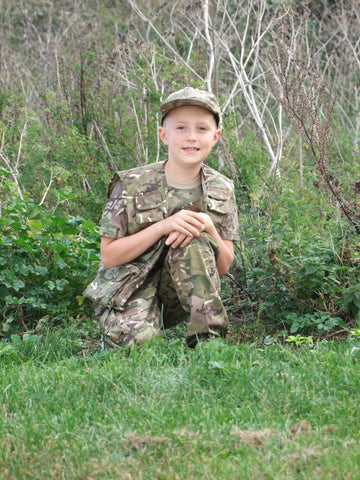 Childrens camouflage activity vest